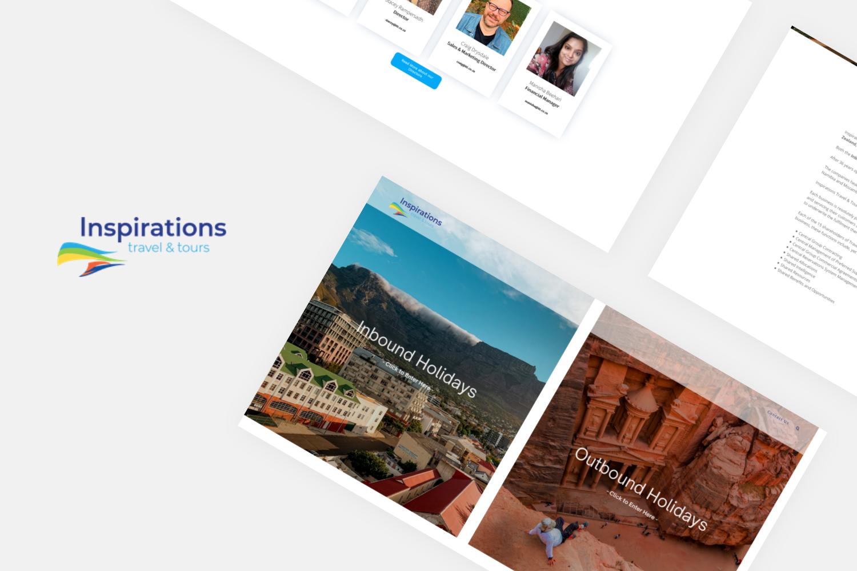 Inspiration Travel and Tours (ITT) Website layout