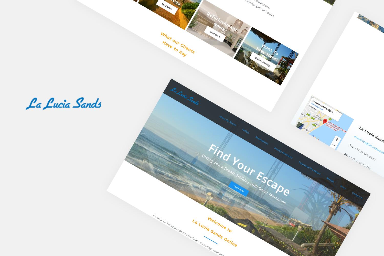 La Lucia Sands Website Portfolio screen layout